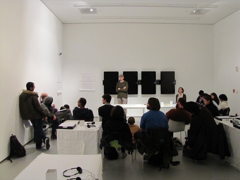 Image from Public Listening Session, held within Vogue'ology 2010 exhibition. Event lead by Robert Sember