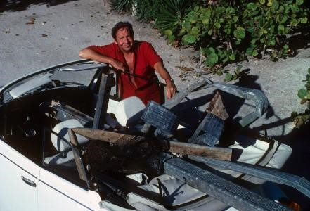 Robert Rauschenberg hunting and gathering in Captiva.  Courtesy of The Robert Rauschenberg Foundation.