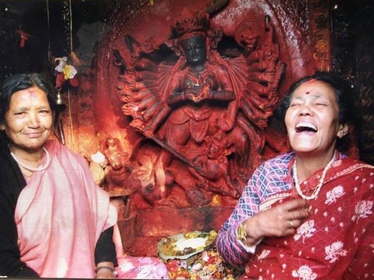 Swyambhu Dyama laughing, at Palanchowk Bhagwati (1).jpg