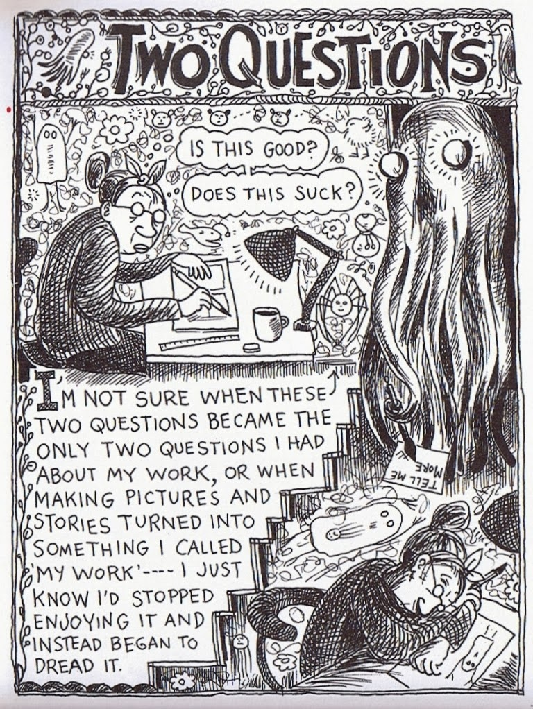 Comic by Lynda Barry