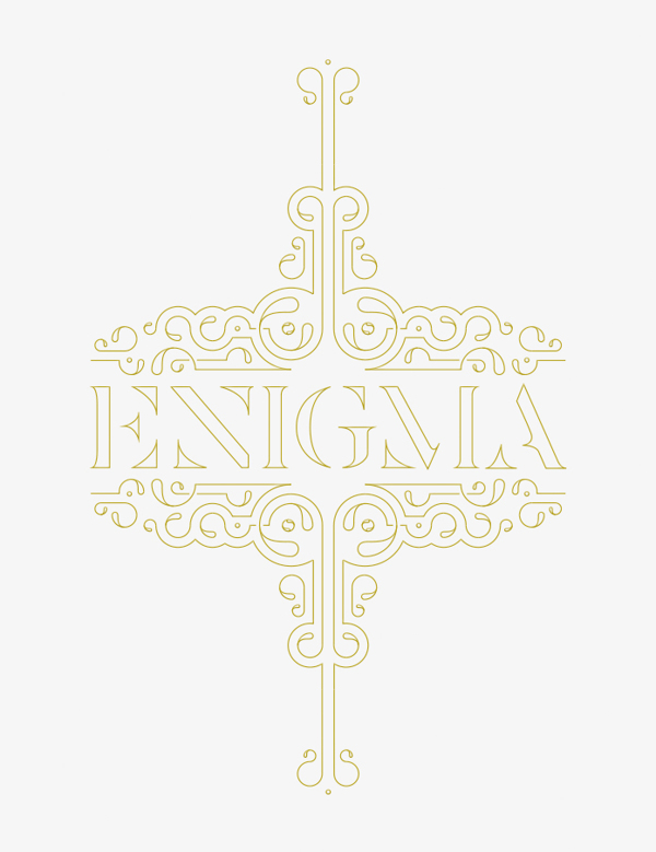 Enigma Type Ornament - Eva Moon Press journal