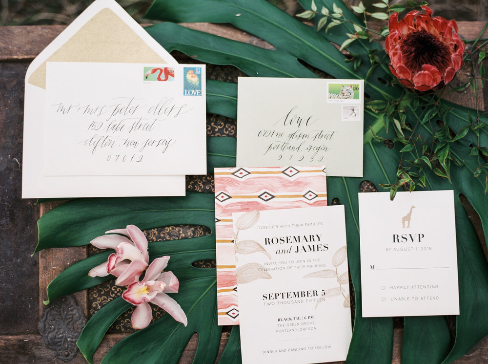 Safari Styled Invitation Suite / Eva Moon Press
