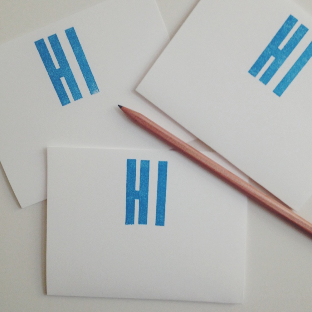 HI Stationery by Eva Moon Press