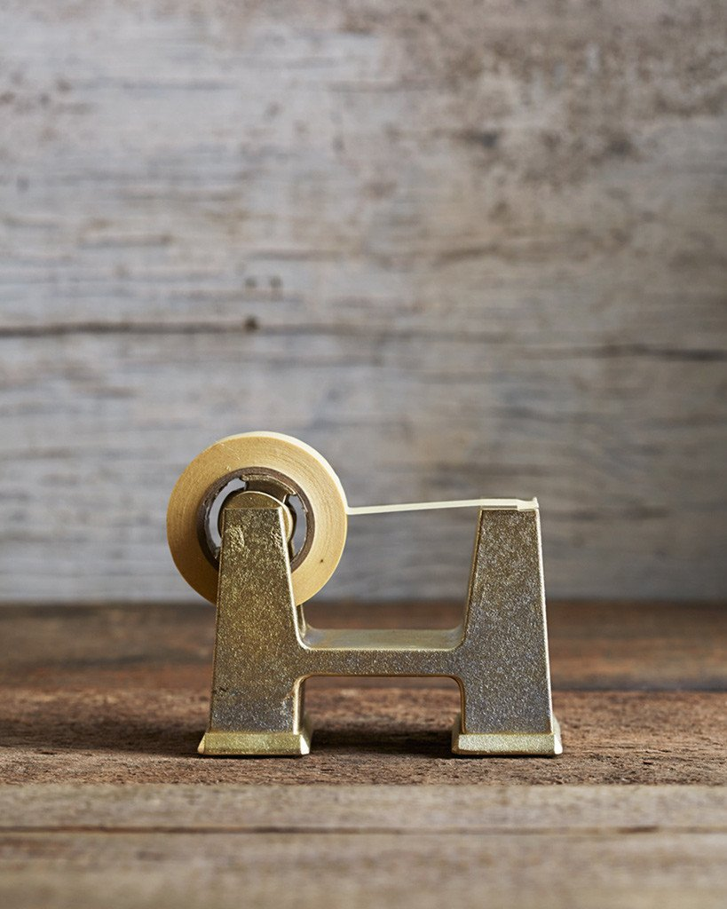 Nalata Nalata - Futagami Brass Tape Dispenser (small), $215.00. Designed in Takaoka, Japan.