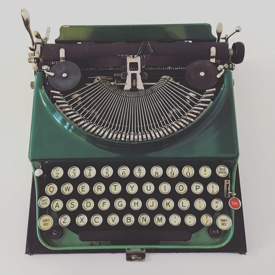 Shop Noun - 1928 Model No.3 Green Remington Typewriter, $300. For purchase inquiries please email shopnoun@gmail.com.