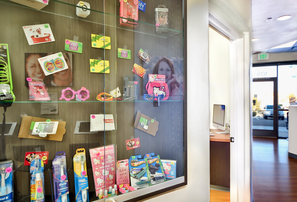 Prize cabinet Just Smile Orthodontics