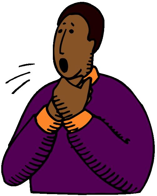Choking person
