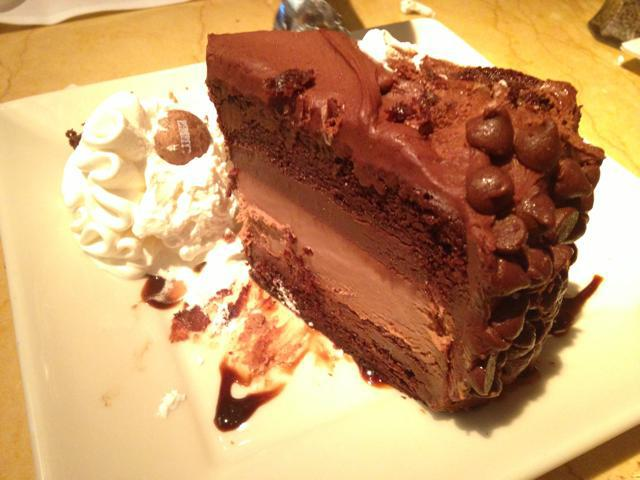 Orthodontic braces friendly food at Cheesecake factory