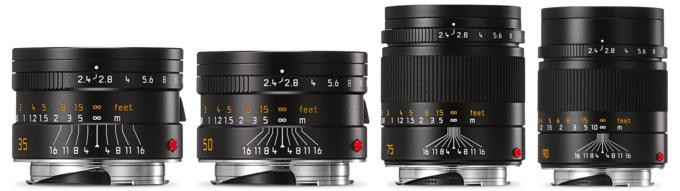 Leica Summarit Line, 35mm, 50mm, 75mm, 90mm
