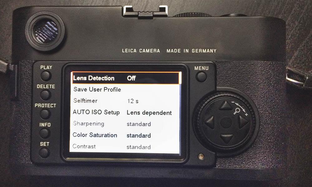 Leica M8 Back