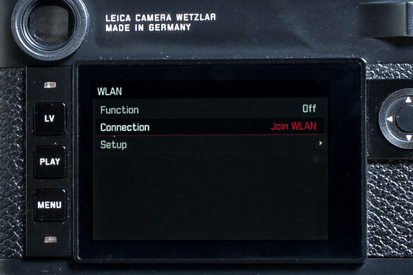 joining a network next go to your smart device and select the Leica camera network