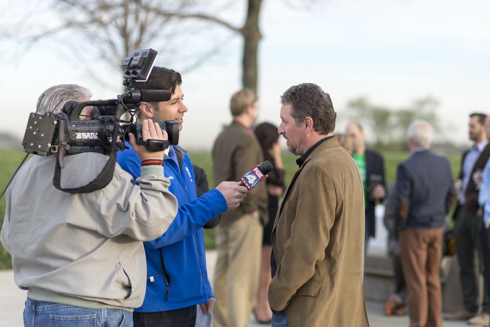 Fox4 news team interviews John Epperson, CEO of BuzzMeDo.