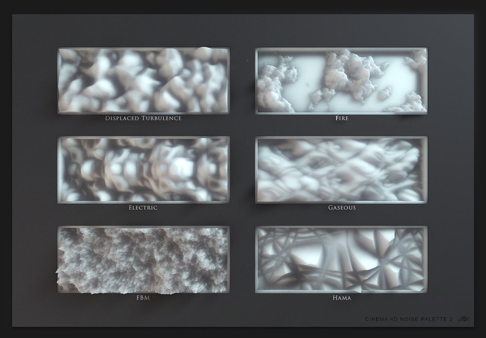 Motion designer Mario Tran Phuc's study of noise in 3d software Cinema4d