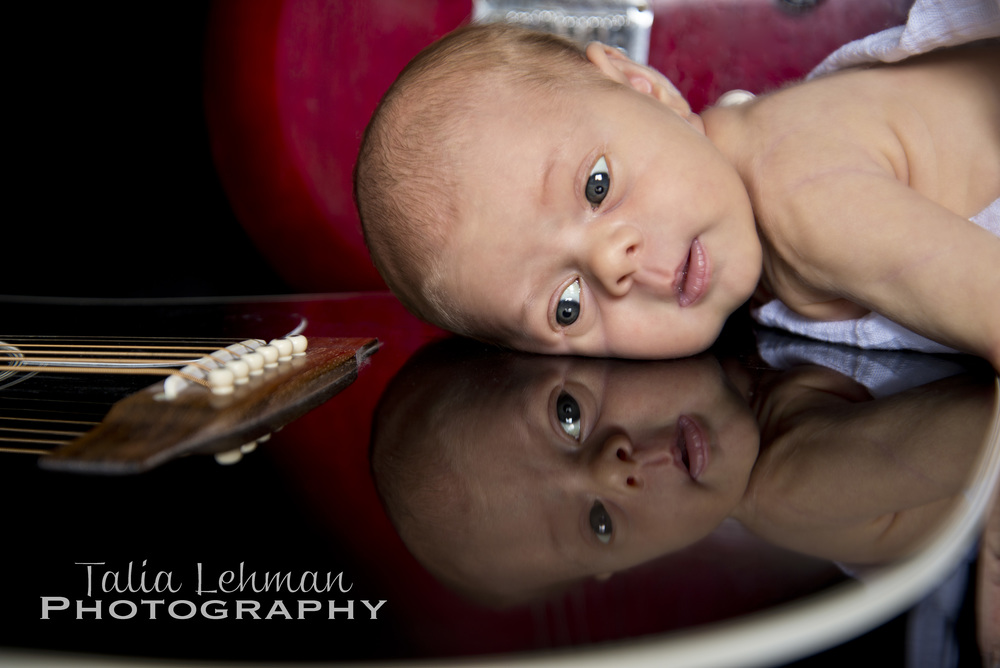 LOVE her reflection looking back at us!