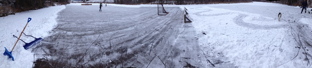 Two rinks at Chris and Rian's place in Bear Creek, not far from the original gold strike of 1986.
