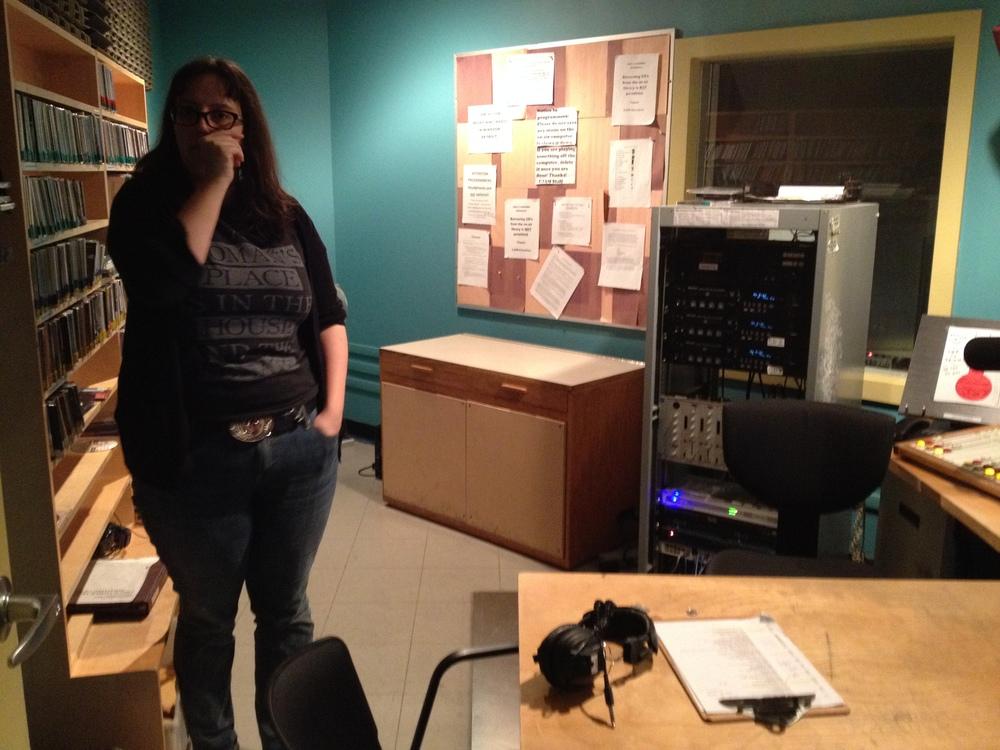 Sarah Morris at CJAM 99.1 FM.