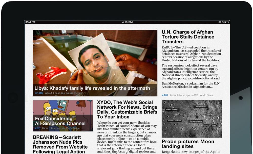XYDO iPad app - Free iPad news reader app.