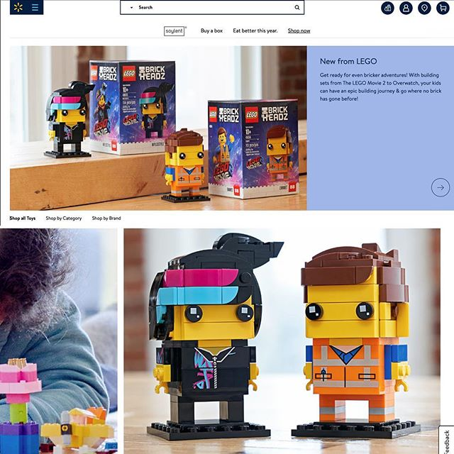 New @lego work for @walmart #legomovie2 #lego #brickheadz #photography #commercialphotography