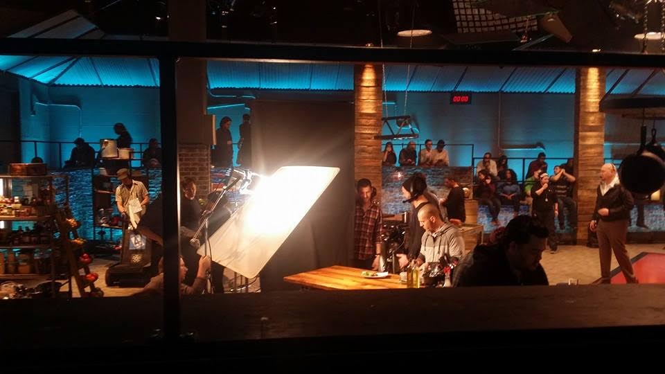 "On the set Food Network's ""Beat Bobby Flay"""