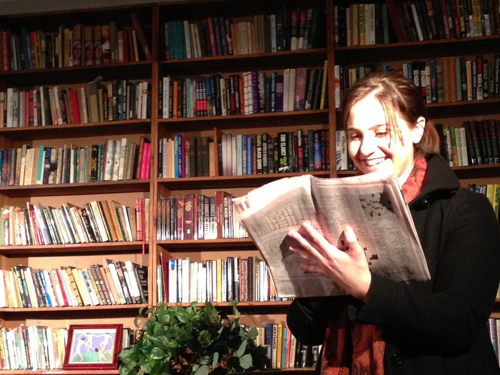 Lisa Fernandez in  Collected Stories , the well-received production of Donald Margulies' Pulitzer-price nominated play at the Strand Bookstore.
