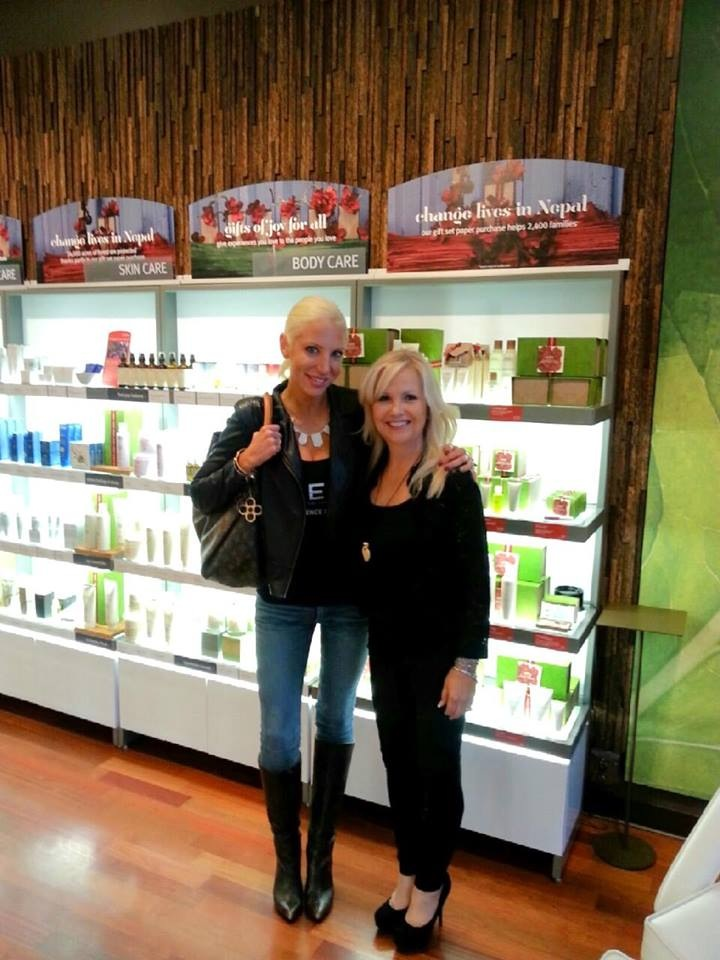 Here's me with Peg, the owner of the AVEDA store at San Tan Village that I frequent