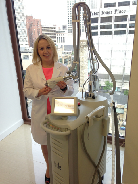Here is Dr. Erickson and Sciton laser platform, fully loaded with the new Halo