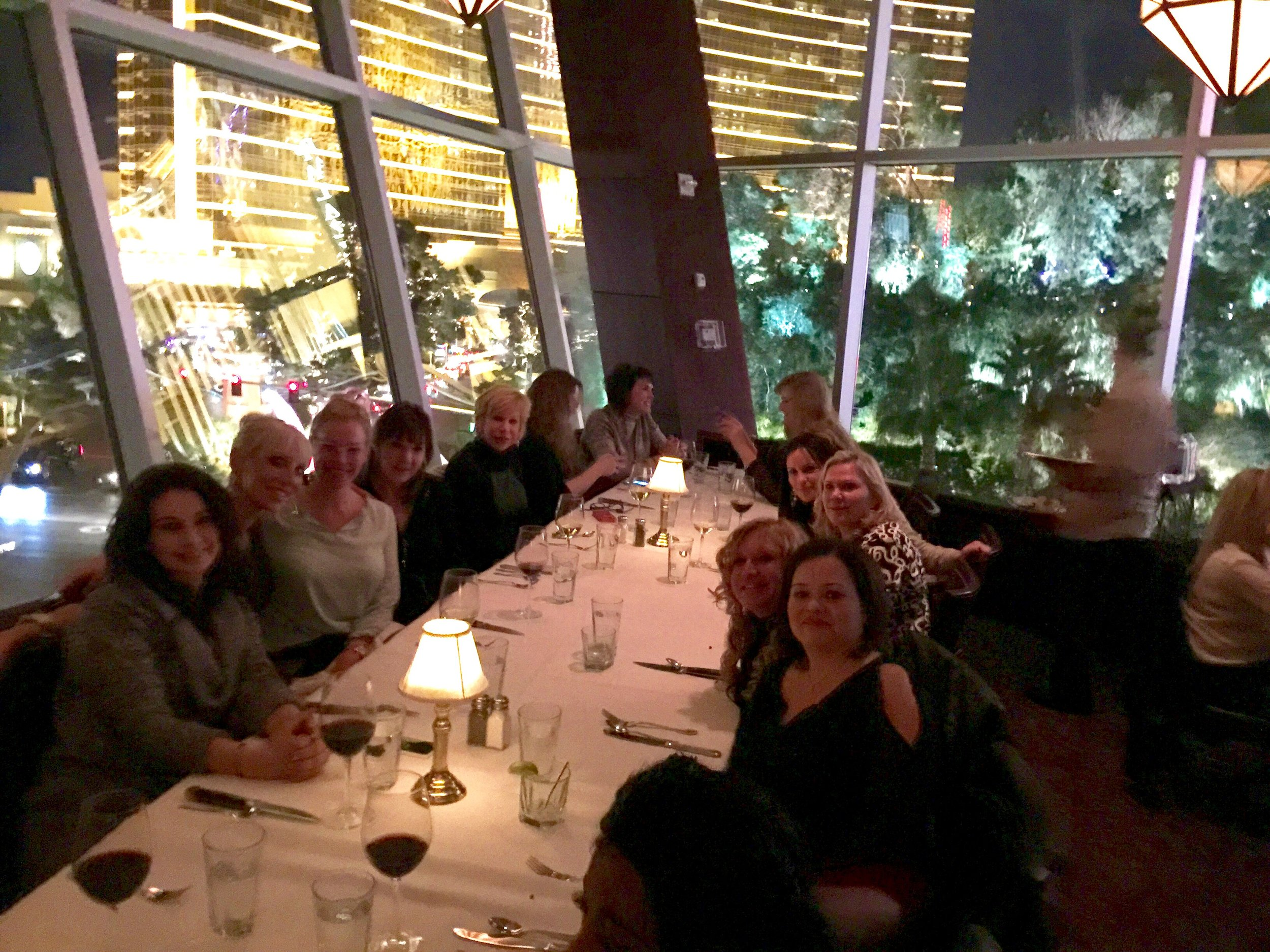 A quick photo from our dinner at Capital Grille, with a great view of the Wynn behind us.