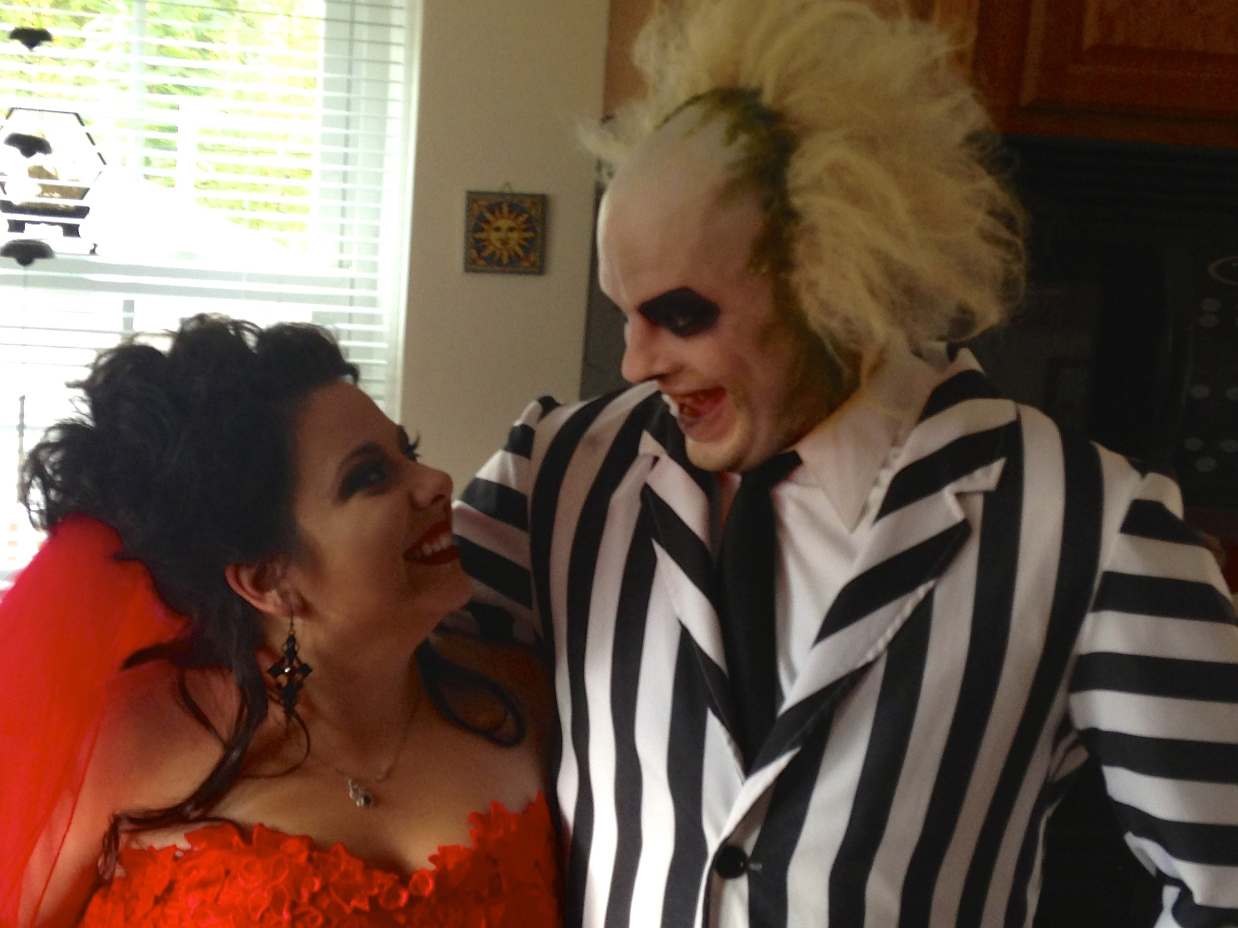 Lydia and Beetlejuice (Laura and Jay): The Happy Couple!
