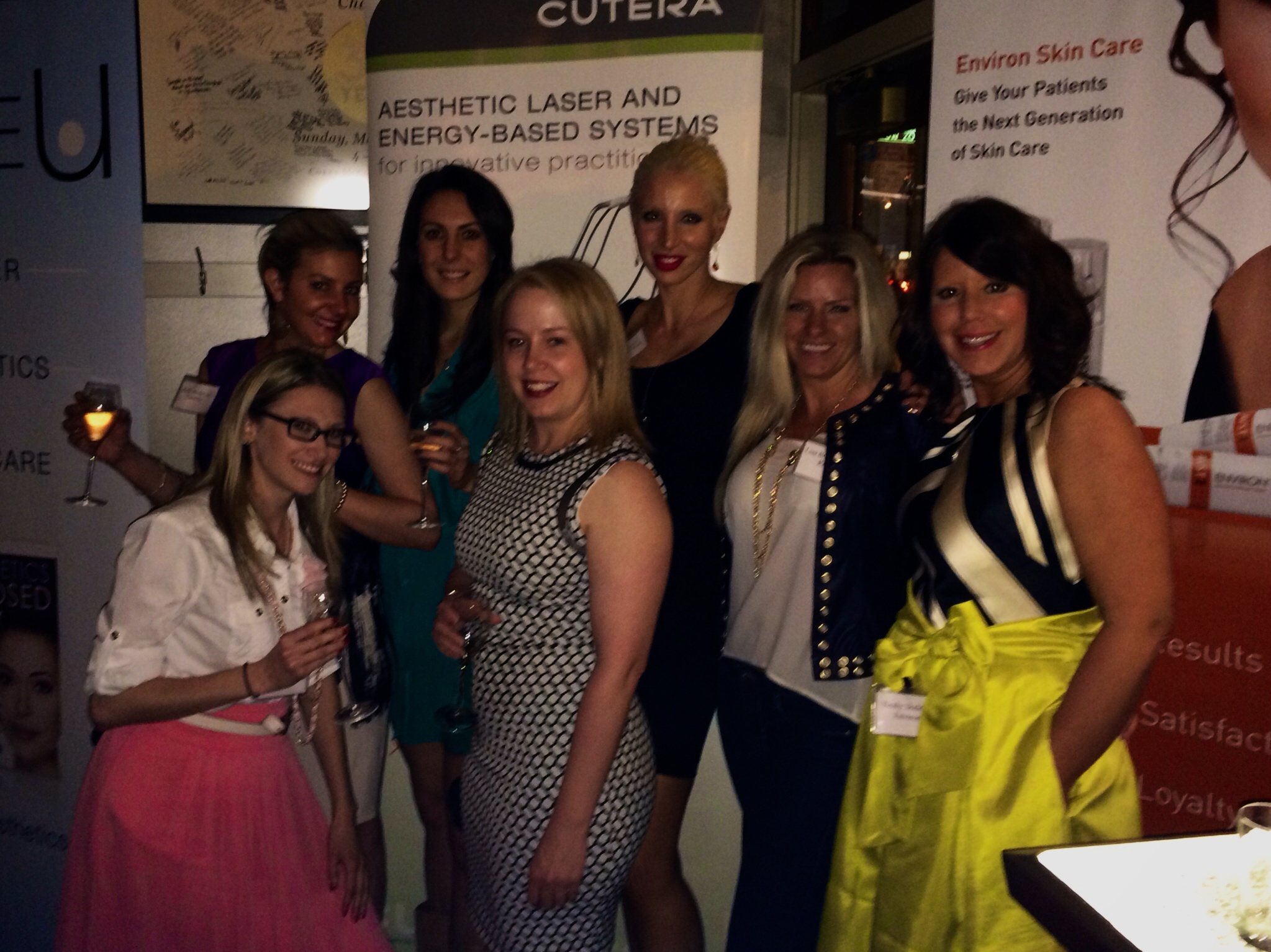 With a Bunch of Beauties at the AmSpa, Environ and Cutera Chicago Industry Networking Reception