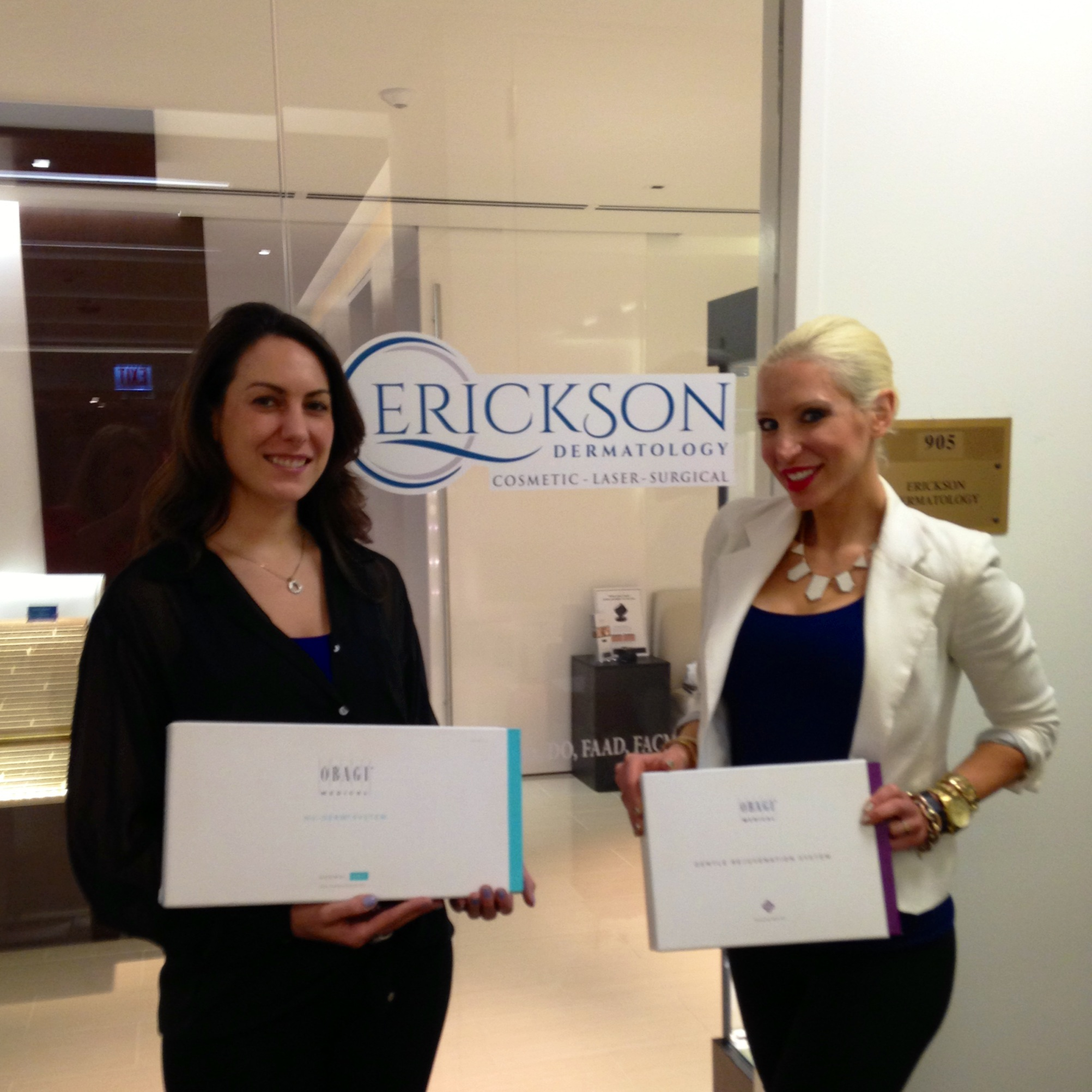Jennifer and Elizabeth at Erickson Cosmetic Dermatology