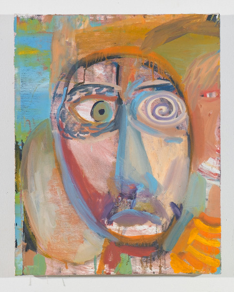 "Head # 5 , 2012, oil on canvas, 17.5"" x 14"""