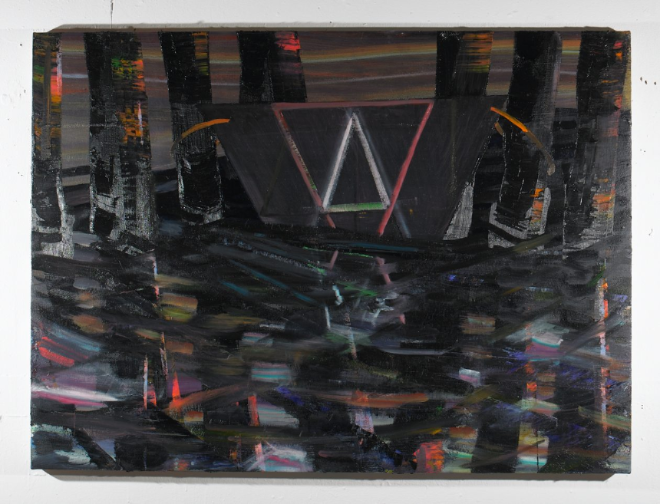 "Black Water , 2011, oil on canvas, 36""x 48"""