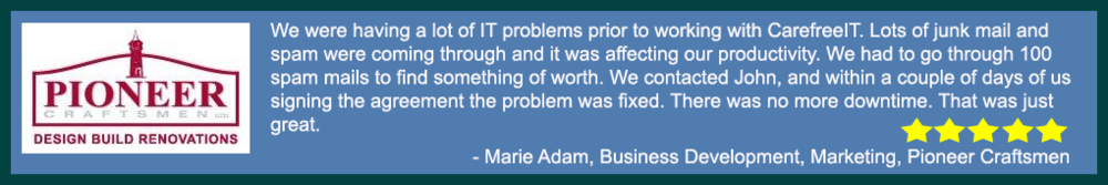 Guelph tech support. Cambridge IT services. Pioneer Craftsmen - Marie Adam