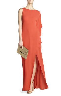 BCBG Janus One-Shoulder Gown