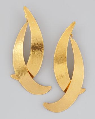 Hervé Van der Straeten Virgules Crescent Drop Earrings