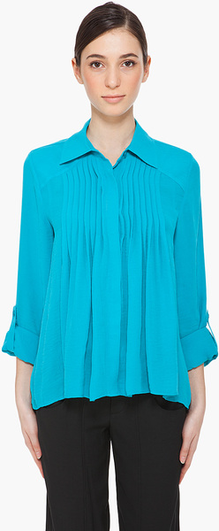 alice + olivia Blue Asha Blouse