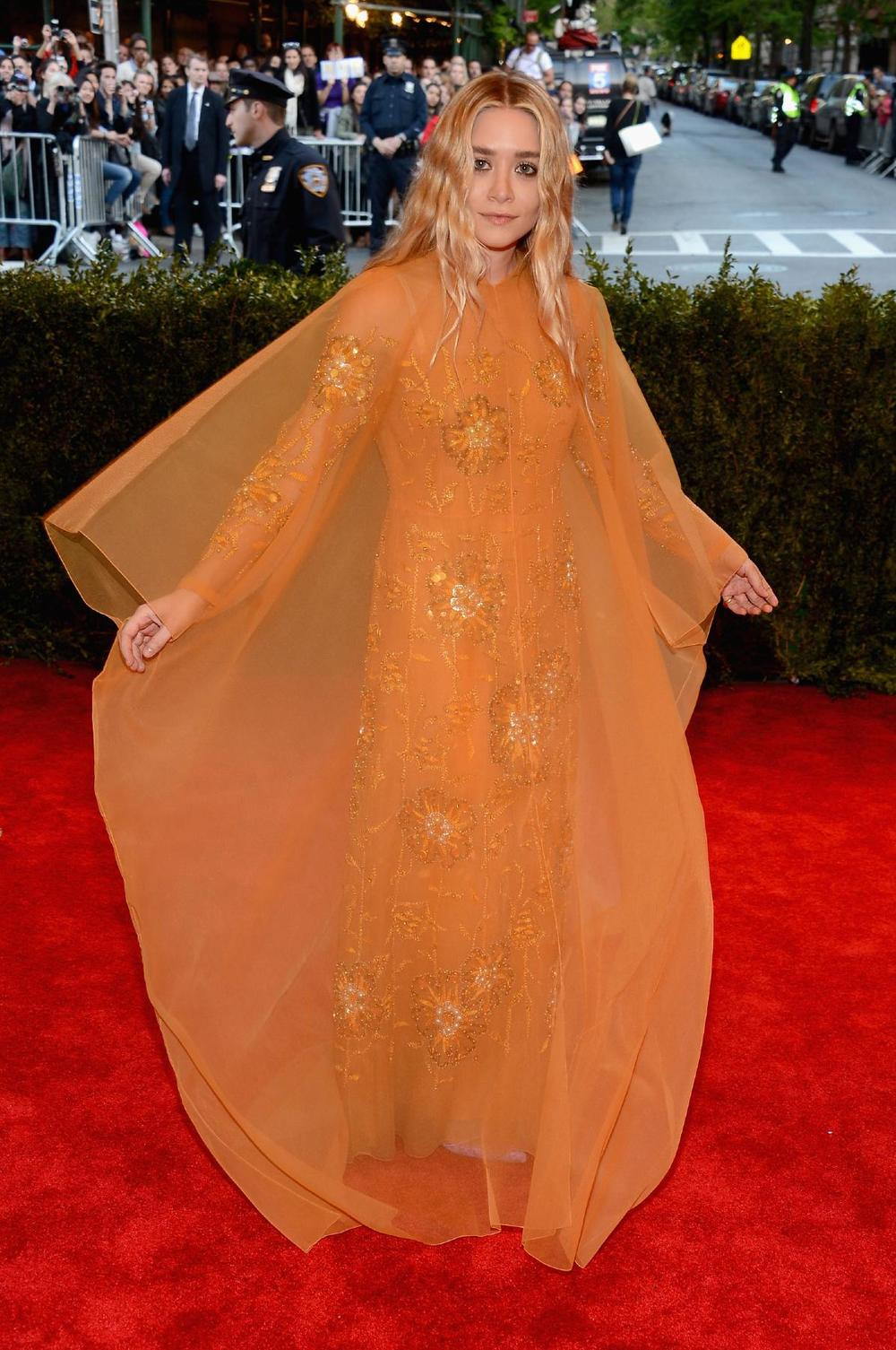 Ashley Olsen in vintage Christian Dior Haute Couture