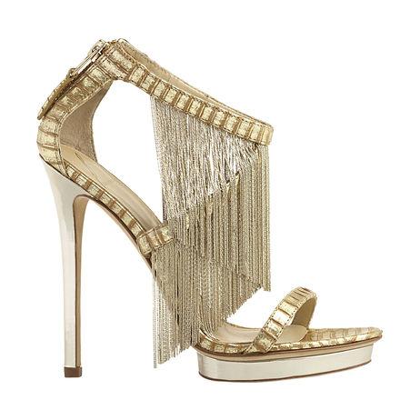 B Brian Atwood Cassiane Fringe Sandals