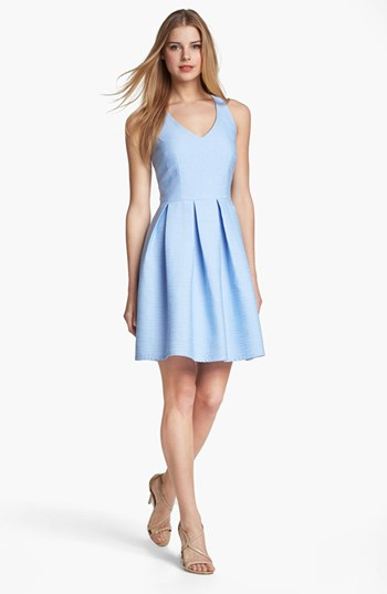 Taylor Cutout Detail Fit & Flare Dress