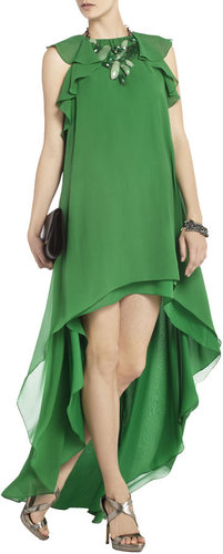 BCBG Fais Silk High Low Dress