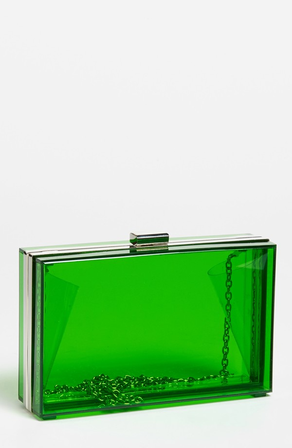 Expressions NYC Clear Box Clutch