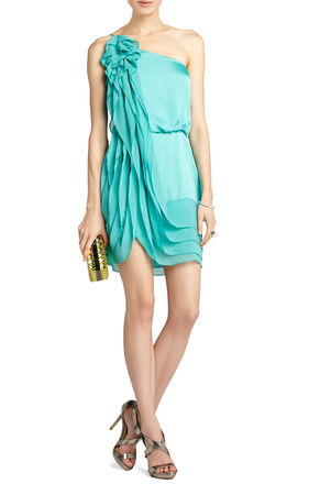 BCBG Lydia Silk Ruffle Dress