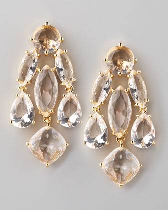 Kate Spade Clear Statement Earrings