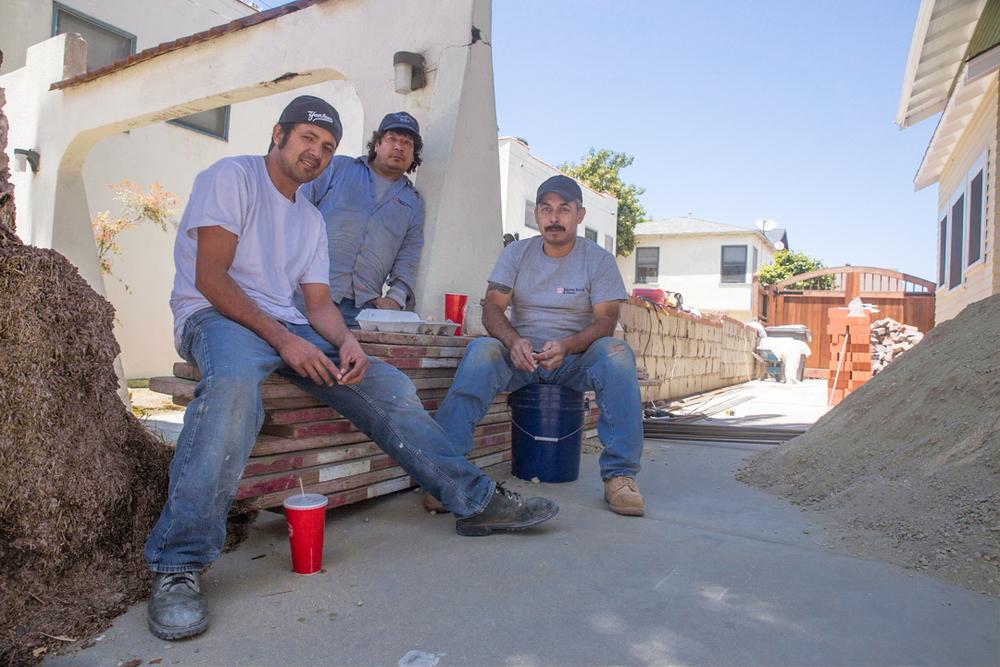 """""""The Three Amigos,"""" Juan Guerrera (Cabanas, El Salvador), Efrain Baos (Santo Toms, El Salvador) and Balmore Rivas (Cabanas, El Salvador), (L-R)."""