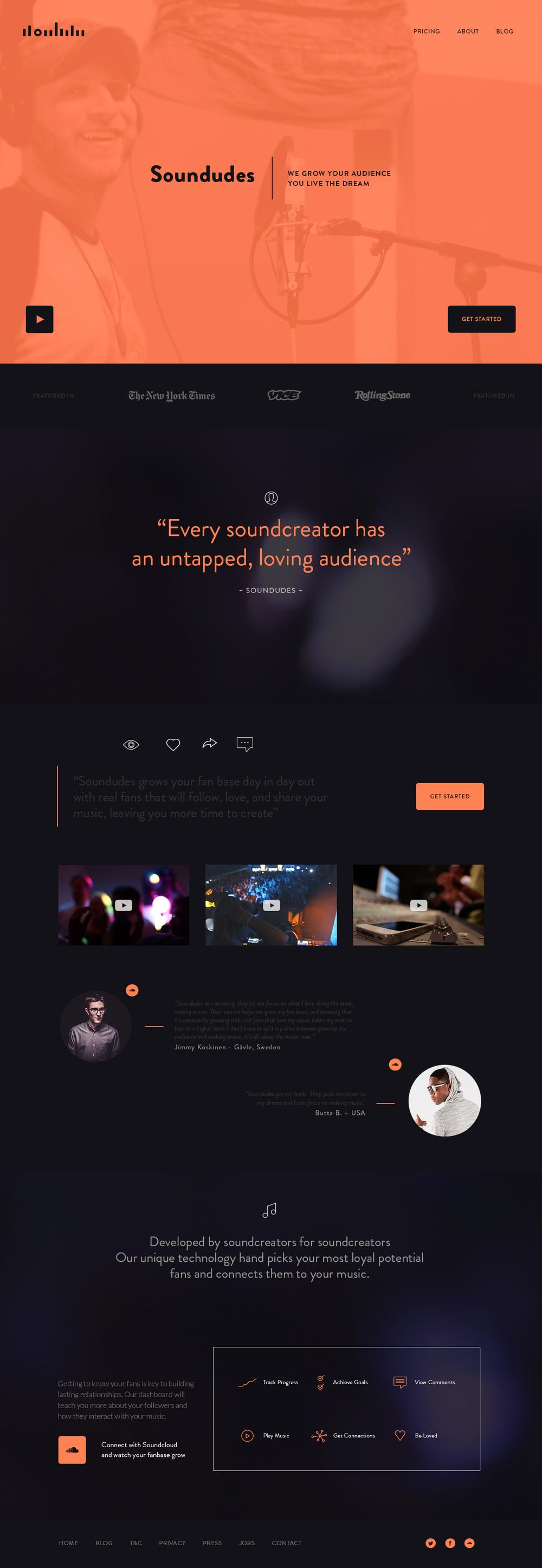Soundudes – App Launch