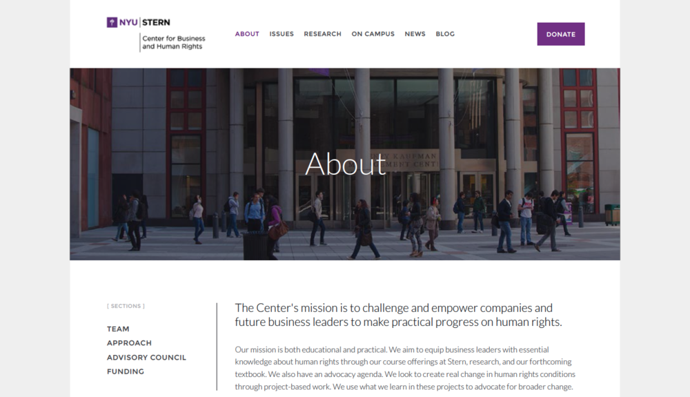 NYU Stern Center for Business and Human Right