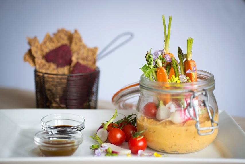 Carrot Pate.  English Veggies.  Celery and Fennel Gastrique.  Balsamic Reduction.  One of my final projects in Bath, England.  Photo courtesy of Dawn Langley.