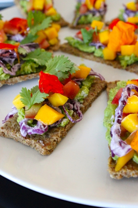Another  version using raw flatbread and purple cabbage