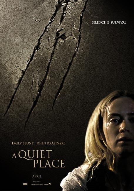 Znalezione obrazy dla zapytania A QUIET PLACE movie poster