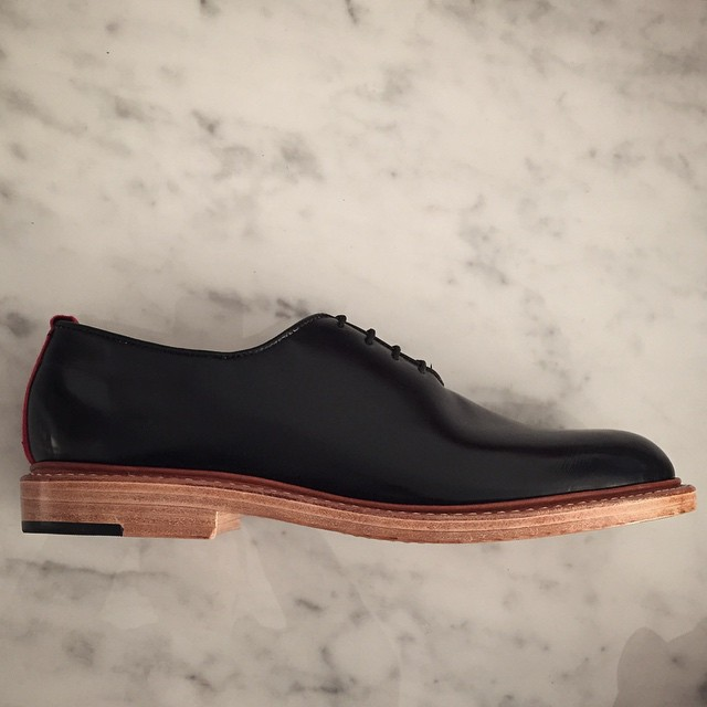 Truman with leather outsole and stacked leather heel. Thoughts? ------------------------------------------------ #americanmade #madetolast #usmade #madeinamerica #wellbredco #shoesoftheday #dapper #shoegame #shoeporn #eyeonstyle #leather #handcrafted